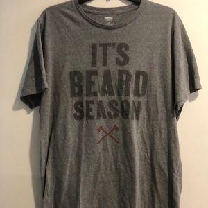 """Old Navy """"It's Beard Season"""" T Shirt"""